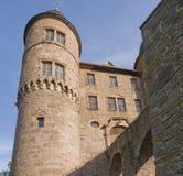 气氛城堡详细资料晴朗的wertheim 免版税库存照片