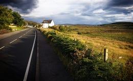 气氛神秘的苏格兰人 库存图片