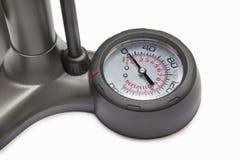 气汞在白色的` s测压器 免版税图库摄影