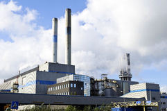 气油精炼厂 库存图片
