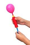 气泵和气球 免版税库存照片