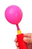 气泵和气球 免版税库存图片