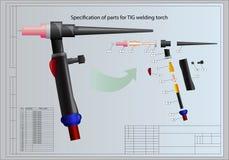 气焊枪细节  免版税图库摄影