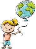 气球世界 向量例证