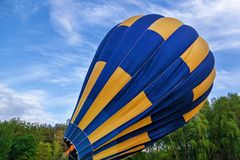 气球为发射做准备 免版税库存图片