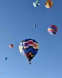 气球五颜六色热 库存图片