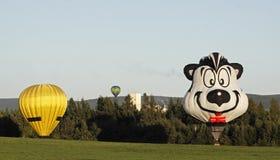 气球五颜六色的着陆 免版税库存照片