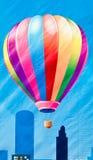 气球五颜六色的绘画 库存照片