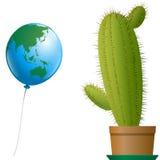 气球亚洲澳大利亚仙人掌 免版税图库摄影