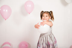 气球公主 图库摄影