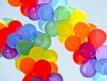 气球双彩虹 免版税库存照片