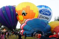 气球吹动热  库存图片