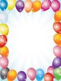 气球和五彩纸屑 免版税库存照片