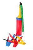 气球和泵 免版税库存照片
