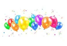 气球和闪亮金属片 库存例证