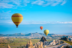 气球在卡帕多细亚,土耳其 库存图片