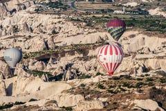 气球在Cappadocia 免版税库存照片
