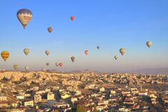 气球在卡帕多细亚 图库摄影