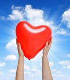 气球在形状心脏 库存图片