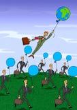 气球地球 皇族释放例证