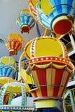气球埃德蒙顿西方购物中心的锭床工人 免版税库存图片