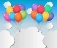 气球天空背景 免版税库存照片