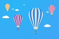 气球天空 现代平的设计样式 简单的传染媒介象 图库摄影
