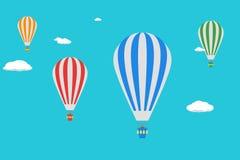 气球天空 现代平的设计样式 免版税库存照片