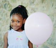 气球女孩粉红色 库存图片