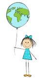 气球女孩 免版税库存图片