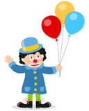 气球小丑一点 免版税库存图片