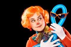 气球小丑人 库存图片