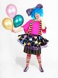 气球小丑 免版税图库摄影