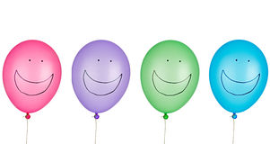 气球庆祝童年节日玩具 免版税库存图片