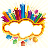 气球庆祝节假日星形 免版税图库摄影