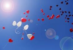 气球心脏 免版税库存照片