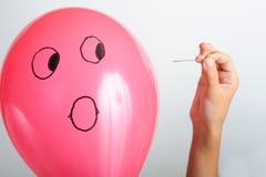 气球恐吓 免版税库存图片