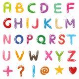 气球手写字母表样式  图库摄影