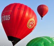 气球捷克日节日kunovice共和国 库存照片