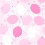 气球无缝当事人的模式 免版税库存图片