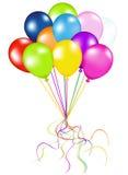 气球束起五颜六色的向量 库存图片