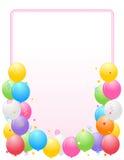 气球毗邻五颜六色的框架当事人 库存图片