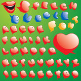 气球泡影对话字体集合演讲 免版税库存图片