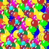 气球混和梯度多彩多姿梯度的滤网没有使用的简单 很多 图库摄影