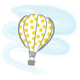 气球热向量 皇族释放例证