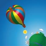 气球热天空 免版税图库摄影