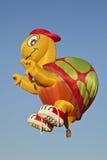 气球热家庭教师 免版税库存照片