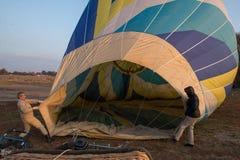 气球热彩虹 免版税图库摄影