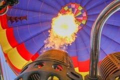 气球热里面视图 免版税库存照片