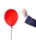 气球爆炸 库存照片